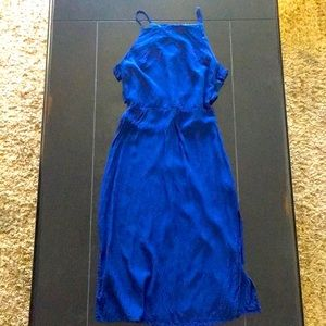 Forever 21 blue cut-out dress